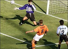 Dennis Bergkamp's wonder goal in the 1998 World Cup in a game that ended  Argentina 1 - Holland 2.