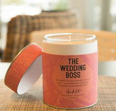 My friend Lisa Richmon created some great candles for her line Chick Lit.this one is perfect for my brides. Candle Jars, Candles, Experience Gifts, Gadget Gifts, Perfect For Me, Fragrance Oil, Aromatherapy, Personalized Gifts, Artisan