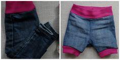 Fuchsgestreift: Upcycling einer Upcycling-HoseAllerdings habe ich für die Kleine gar keine kurze Jeans, weshalb ich auf die Idee gekommen bin, einfach ihre lange Jeans, die sowieso an den Knöcheln zu eng wurde, zu kürzen. Ein Upcycling eines Upcyclings also!