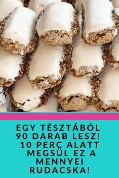 Sweets Cake, Cookie Desserts, Sweet Desserts, Delicious Desserts, Yummy Food, Hungarian Desserts, Hungarian Recipes, Sweets Recipes, Cake Recipes