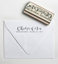 Custom Simple Address Stamp | Gifts Cards & Stationery | Yes Ma'am Paper + Goods | Scoutmob Shoppe | Product Detail