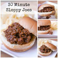 30 Minute Sloppy Joes