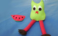 Owl and watermelon