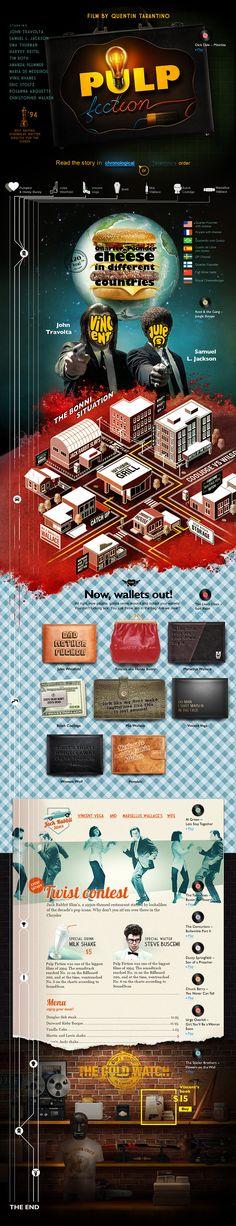 Unique Web Design, Pulp Fiction via @anaismigeon #WebDesign #Design
