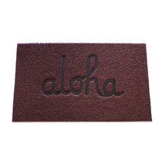 ALOHA ARMY - ALOHA SCRIPT DOOR MAT  - In4mation Shop Online