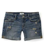 Destroyed Medium Wash Denim Boyfriend Shorts - Aéropostale® $22