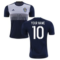 5cd50704a90 2018 FIFA World Cup Sweden Any Name Number Away Soccer Jersey Sweden Soccer  Jersey