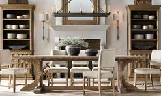 Dining room table Favorite Farmhouse Trestle Tables (& Progress on Our Kitchen Banquette) - Driven by Decor Kitchen Banquette, Kitchen Chairs, Kitchen Wood, Kitchen Dining, Kitchen Ideas, Trestle Dining Tables, Dining Room Table, Farm Tables, Wood Tables