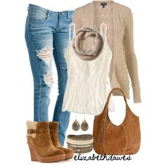 """Wedge boots for fall"" by elizabethdawes on Polyvore"