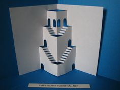 3 d stairs. A site dedicated to paper   Origami and PaperCraft – Origami Paper Club