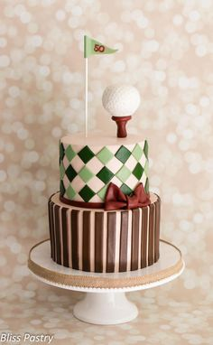 Vintage Golf Birthday Cake - Cake by Bliss Pastry - For all your cake decorating supplies, please visit craftcompany.co.uk