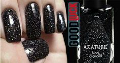 Siyah elmas taneli oje. http://www.goodluck.com.tr/TR/10244/haber-detay/siyah-elmas-taneli-oje/ #güzellik #luxury #oje #Azature