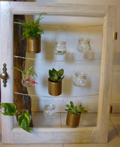 tableau végétal - un peu de nature sur vos murs ! : Décorations murales par un-objet-une-histoire Outside Living, Vase, Decoration, Picture Frames, Planter Pots, Creative, Diy, Pictures, Crafts