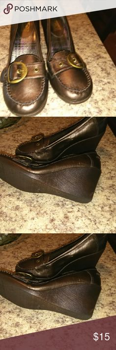 Wedge loafers. Like new. These are like new & very comfortable Victoria spenser Shoes Wedges