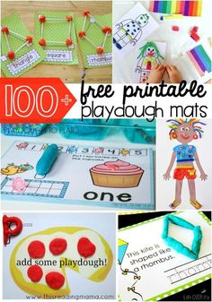 100+ free printable playdough mats. Tons of fun playdough ideas in the bunch! Math games, ABC mats, craft activities... tons of great projects for preschool and kindergarten.