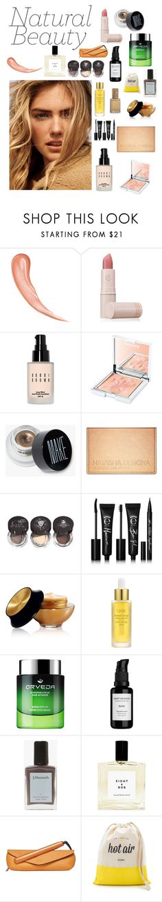 """""""Natural Beauty"""" by sar-clark ❤ liked on Polyvore featuring beauty, Lipstick Queen, Bobbi Brown Cosmetics, Sisley, Chantecaille, Eyeko, Yves Saint Laurent, Oribe, Root Science and J. Hannah"""