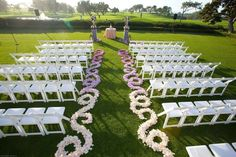 Interesting Outdoor Wedding Aisle Decoration Ideas With White ...
