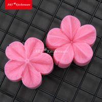 2 PC/SET Plum Petal Flower Leaf Veiner Silicone Mold Cake Decorating Fondant Impression Flower Mold Sugarcraft Texture Cake Mold