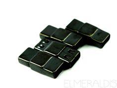 6 mm Magnetverschluß flach black schwarz Edelstahl
