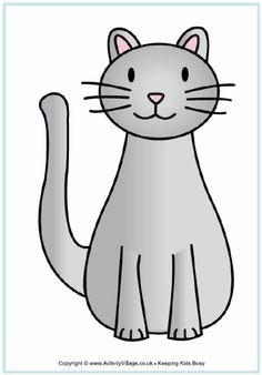 118 best cat templates images cat template free printables