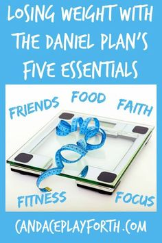 Finally reach your health goals by losing weight and finding motivation with The Daniel Plan's 5 Essentials: Friends, Food, Faith, Fitness, and Focus! This is the perfect lifestyle plan for body, mind, and soul.