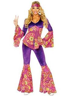 Purple Power | Cheap 60's Halloween Costume for Women