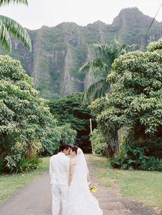 Oahu, Hawaii Wedding at Kualoa Ranch   Read more - http://www.stylemepretty.com/2014/02/07/oahu-hawaii-wedding-at-kualoa-ranch/