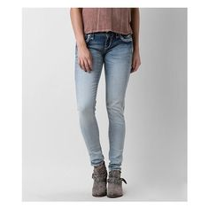 Rock Revival Rona Skinny Stretch Jean ($169) ❤ liked on Polyvore featuring plus size women's fashion, plus size clothing, plus size jeans, blue, low rise jeans, rock revival skinny jeans, blue skinny jeans, frayed skinny jeans and skinny leg jeans