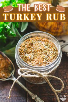 This homemade turkey rub is a blend of savory spices and herbs to make the ultimate poultry seasoning! A Homemade spice rub adds loads of flavor to your Thanksgiving turkey, while also delicious on chicken, beef, and pork! #turkeyrub #turkeybutterrub #thanksgivingturkeyseasoning