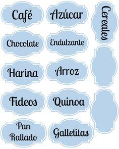 Imprimibles para organizar la cocina: Lote 93