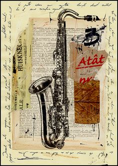 jazz-mixed-media-art from Mirel Emanuel