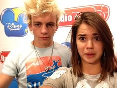 Maia Mitchell and Ross Lynch from Teen Beach Movie at Radio Disney