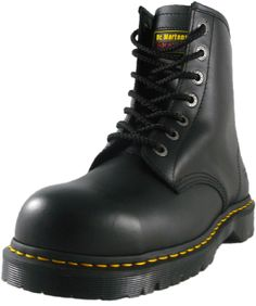 Doc  Marten / Dr Martens 7B10 7 Eyelet Steel Toes Safety Work Boot - Black
