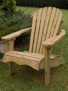 Swedish Redwood Adirondack Relaxing Garden Chair