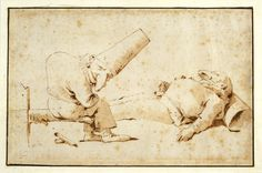 Tiepolo and his Due Pulchinelle. My favourite of his Punchinello drawings is the one with them cooking gnocchi, (another favourite in the collection at the Prints and Drawings department in the Art Institute of Chicago. Exquisite.)