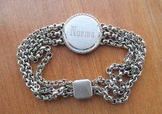 Vintage ID bracelet signed Spiegel by lolatrail on Etsy, $15.00