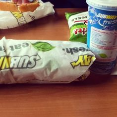 Subway. Eat fresh. Fast Food Places, Snack Recipes, Snacks, Chips, Fresh, My Favorite Things, Eat, Snack Mix Recipes, Appetizer Recipes