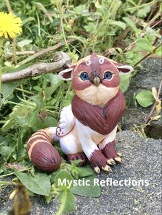 Handmade ooak Polymerclay Animal Pal Sculpture by Mystic Reflections Polymer Clay Creations, Fantasy Artwork, Mystic, Etsy Seller, Sculpture, Animal, Christmas Ornaments, Holiday Decor, Creative