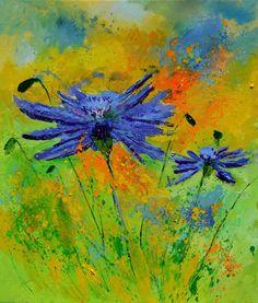 two cornflowers, painting by artist ledent pol Paintings For Sale, Original Paintings, Artist Gallery, Art Lessons, Aesthetic Wallpapers, Saatchi Art, Oil On Canvas, Art Decor, Art Prints