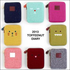 Un-dated Weekly Journal Planner_Monopoly Toffeenut Diary_Cute Knit Zipper Cover