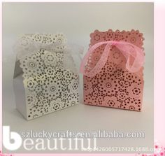 Pretty anddecorative mix sunshine flower paper laser cut wedding candy box chocolate favour box baby birthday gift box
