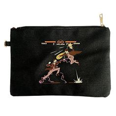 Funny Fight Game Famous Physicist Tesla VS Edison Designed Canvas Pouch Bag -- Check this awesome product by going to the link at the image.
