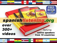 más de 300 videos de nativos españoles, diferentes acentos. reales originales. comprension oral