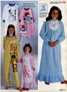 1982-xx-xx Sears Christmas Catalog ( what our pj's looked like)