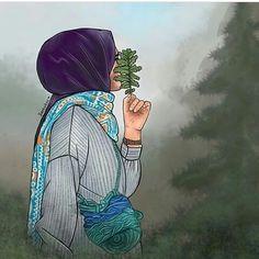 Free Anime Photos and Seo Tutorials Girly Drawings, Anime Couples Drawings, Couple Drawings, Girl Cartoon, Cartoon Art, Hijab Drawing, Anime Muslim, Hijab Cartoon, Profile Picture For Girls