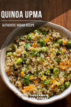 Quinoa upma recipe with step by step photos – quick and easy breakfast recipe of mix vegetable quinoa upma. A vegan recipe. Quinoa Indian Recipes, Best Quinoa Recipes, Veg Recipes Of India, Millet Recipes, Tasty Vegetarian Recipes, Bbc Good Food Recipes, Easy Dinner Recipes, Cooking Recipes, Healthy Recipes