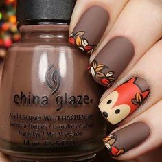 Reinforce Your Nails With Fall Nail Art Barbaramo .- Reinforce your nails with Fall Nail Art - Simple Nail Art Designs, Fall Nail Designs, Cute Nail Designs, Easy Nail Art, Nails Design Autumn, Cartoon Nail Designs, Pretty Designs, Nail Lacquer, Nail Polish