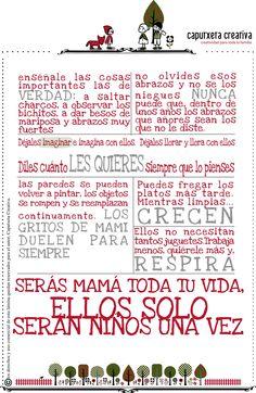 hay cosas realmente importantes: ellos solo serán niños una vez Parent Teacher Meeting, Maria Montessori, Feelings And Emotions, Parents As Teachers, Pro Life, Just Kidding, Best Mom, School Projects, Kids And Parenting