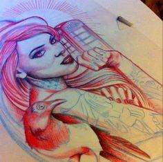 Arabella Drummond tattoo design @s0ur Grapes