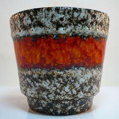 West German Pottery Übertopf / Planter • Jopeko • Fat Lava • Perfect Condition